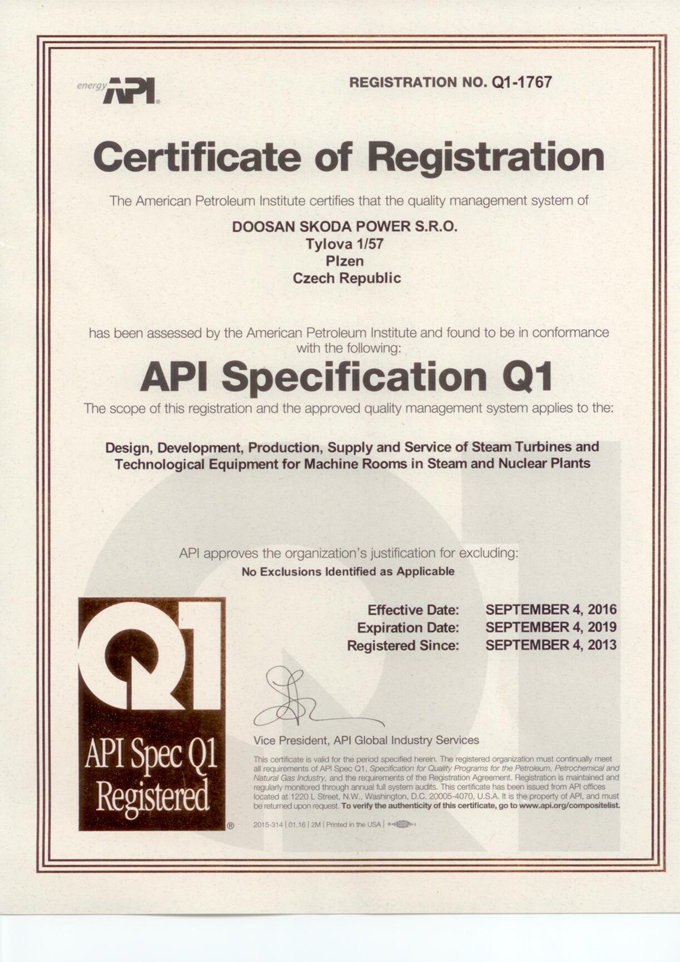 Certifikty Qms Ems Bozp Doosan Koda Power